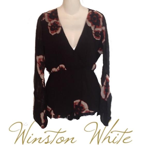 Winston White Pants - Winston White Romper Jumper Floral  Long Sleeve